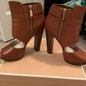 Michael Kors cutout peep toe wedge heel